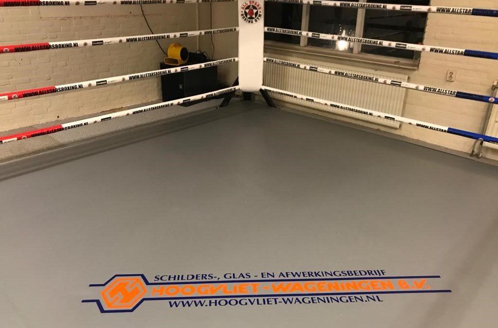 Schildersbedrijf Hoogvliet Wageningen sponsort All Stars Boxing Gym Wageningen